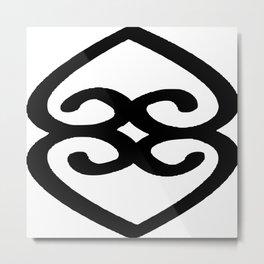 Asase Ye Duru Adinkra Symbol Metal Print