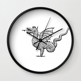 Dragon (pencil) Wall Clock