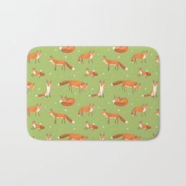 Red Foxes Bath Mat