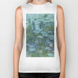Monet, Water Lilies, Nympheas, Seerosen, 1915 Biker Tank