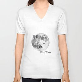 Mrs Moon Unisex V-Neck