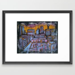 Brooklyn Nocturne 5 Framed Art Print