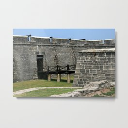 Bridge to St Augustine Fort across moat Metal Print