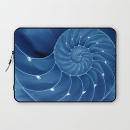 Malibu Blu Mood - Chambered Nautilus  Laptop Sleeve