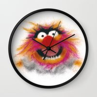 muppets Wall Clocks featuring Animal, The Muppets by KitschyPopShop