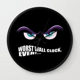 Worst Costume Ever (Halloween) Wall Clock