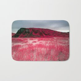 Infrared Beach and Reeds - Arctic Norway Bath Mat