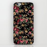 vintage flowers iPhone & iPod Skins featuring Vintage Flowers by Eduardo Doreni