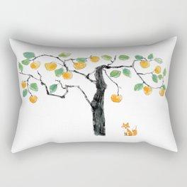 A Fox under the Orange Tree Rectangular Pillow