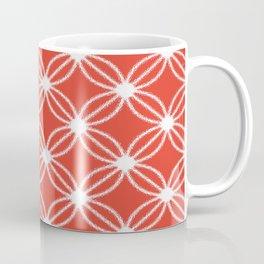 Abstract Circle Dots Red Coffee Mug