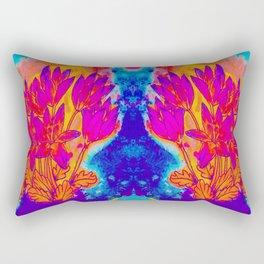 Colchicum Flower Painting Rectangular Pillow