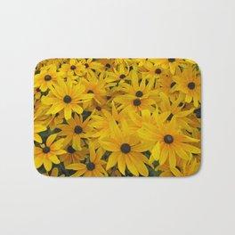 yellow daisies Bath Mat