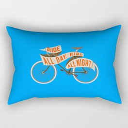 Fixie bike - Ride all day, ride all night Rectangular Pillow