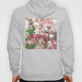 ruby-throated hummingbird on bleeding heart (with bokeh) Hoody