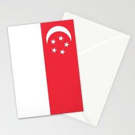 Flag of Singapore Stationery Cards