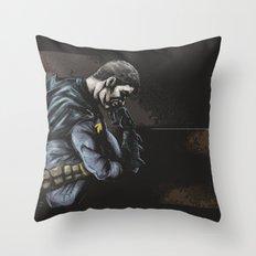 Brooding Batcave Throw Pillow