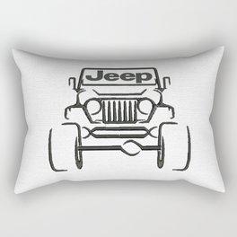 Jeep only Rectangular Pillow