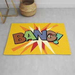 BANG Comic Book Modern Pop Art Fun Typographic Rug