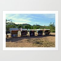 philippines Art Prints featuring Rest Stop - Philippines by Michael S.