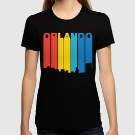 Retro 1970's Style Orlando Florida Skyline T-shirt