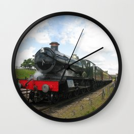 Vintage steam engine railway train Wall Clock