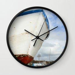 old fisherman's boat Wall Clock