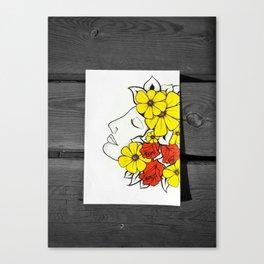 Flower Lady Canvas Print