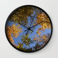 trees in the air Wall Clock