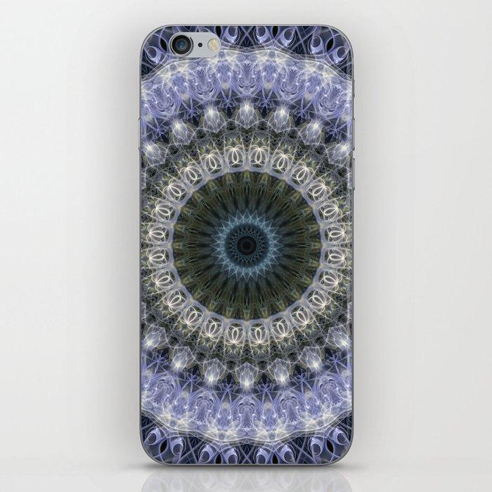 Amethyst mandala with blue star iPhone Skin