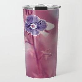 Forget-me-not Violet toned Flower Travel Mug