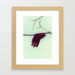 lost glove Framed Art Print