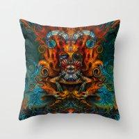 joker Throw Pillows featuring Joker by Waelad Akadan