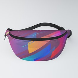 Girly Purple Abstract Art Design Fanny Pack