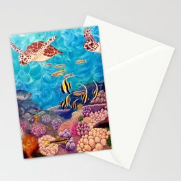 A Good Day for a Swim - Seaturtles in the reef Stationery Cards