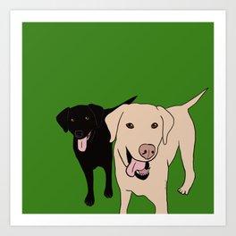 Tanner and Lily Best Labrador Buddies Art Print