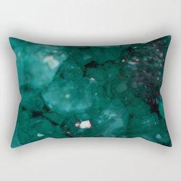 Emerald Drusy Rectangular Pillow