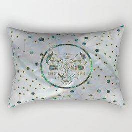 Taurus Zodiac Gold Abalone on Constellation Rectangular Pillow