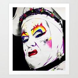 Sister Nora Torious Art Print