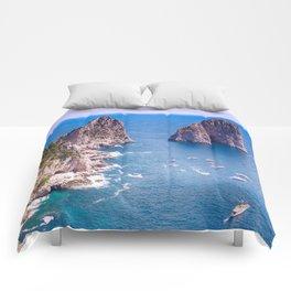 Capri Faraglioni Comforters