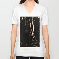 marble V-neck T-shirts featuring Marble by NSuleyman