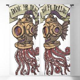 Octopus Diver Blackout Curtain