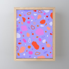 Sweet Terrazzo Cherries Framed Mini Art Print