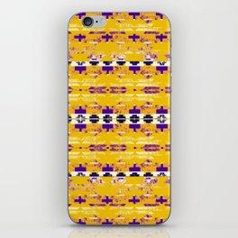 yellow aztec geo mix iPhone Skin