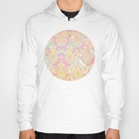 deco Hoodies featuring Rosy Opalescent Art Deco Pattern by micklyn