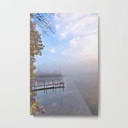 The Adirondacks: Misty October Morning Metal Print