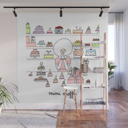 Mimi Loves Wes Anderson movies and cake Wall Mural