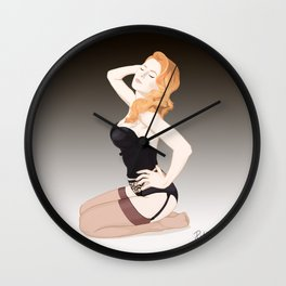 Sexy Lingerie - Pin up Wall Clock