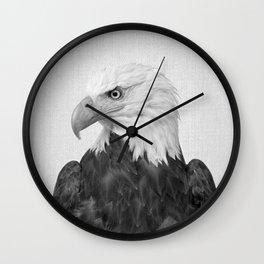 Eagle - Black & White Wall Clock