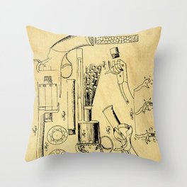 Revolver Support Patent Drawing From 1856 Throw Pillow