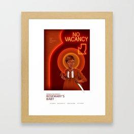 Rosemary Alternative Movie Poster Framed Art Print